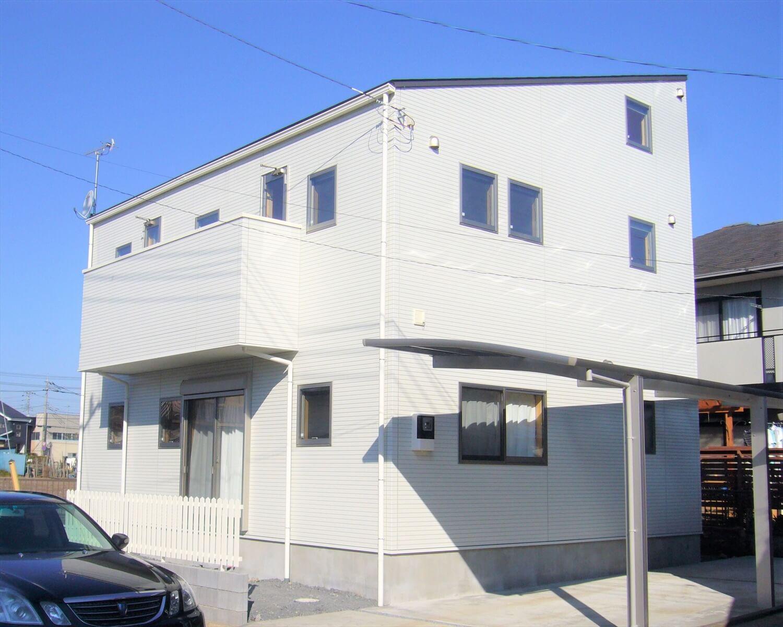 和室とロフトのある二階建ての外観|水戸市の注文住宅,ログハウスのような低価格住宅を建てるならエイ・ワン