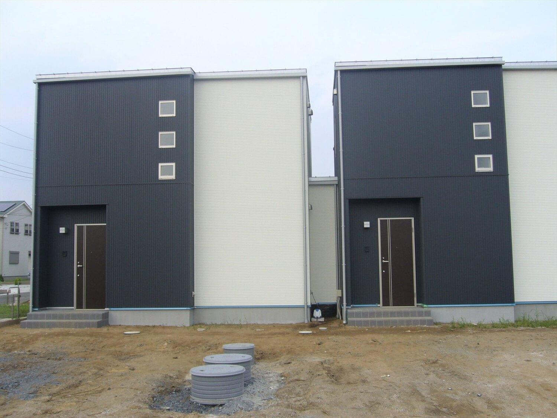 完全分離型の二世帯住宅の接続部|水戸市の注文住宅,ログハウスのような低価格住宅を建てるならエイ・ワン