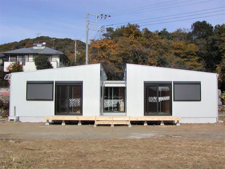 ホワイトの外観正面|寄居町の注文住宅,ログハウスのような低価格住宅を建てるならエイ・ワン