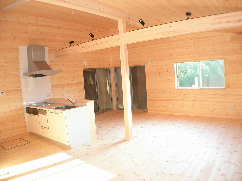 作業場のある平屋のキッチン|石岡市の注文住宅,ログハウスのような低価格住宅を建てるならエイ・ワン