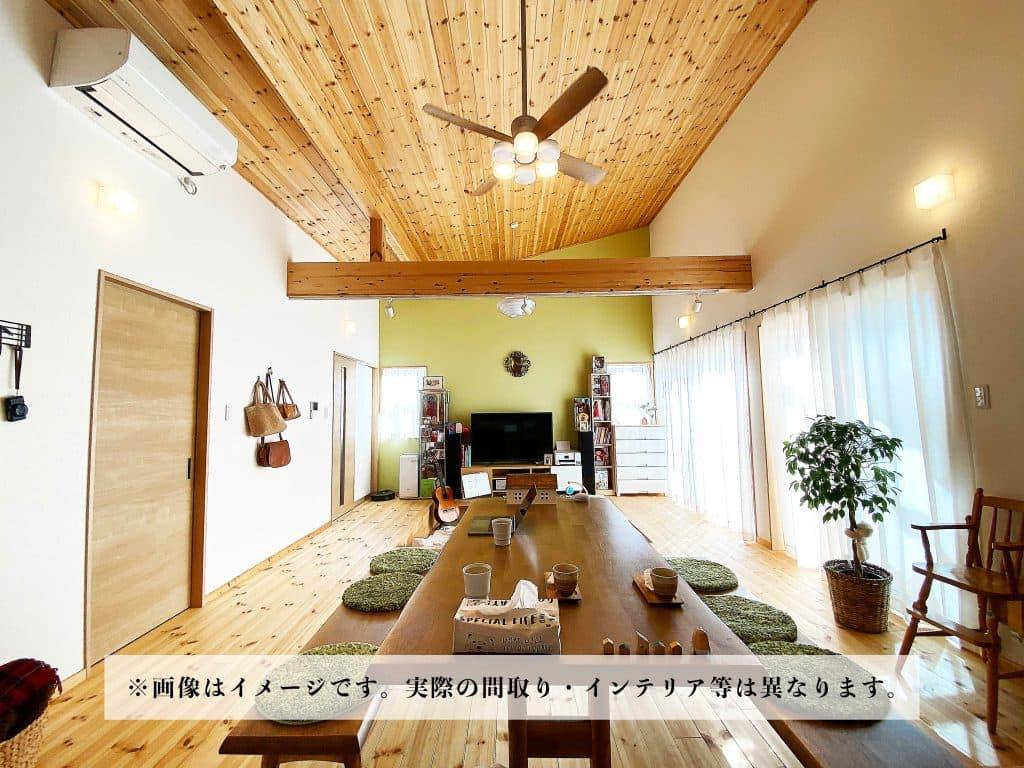 水戸市で平家の完成見学会を開催。内観イメージ