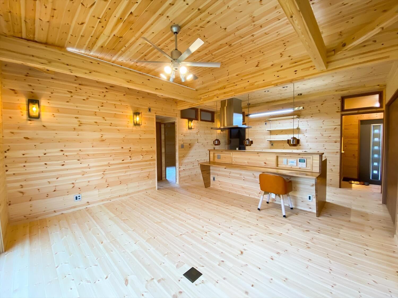 こだわりを詰め込んだ平屋のLDK|石岡市の注文住宅,ログハウスのような木の家を低価格で建てるならエイ・ワン