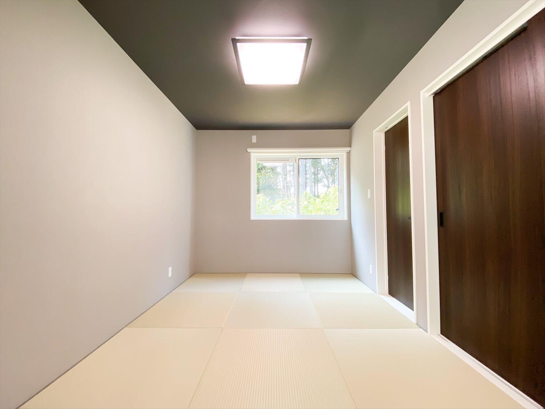 34帖LDKを実現した長期優良住宅の平屋の和室|鹿嶋市の注文住宅,ログハウスのような木の家を低価格で建てるならエイ・ワン